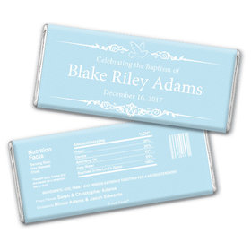 Baptism Personalized Chocolate Bar Dove Frame Message
