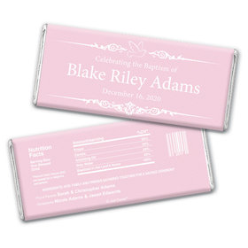 Baptism Personalized Chocolate Bar Wrappers Dove Frame Message