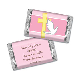 Baptism Personalized Hershey's Miniatures Wrappers Dove & Cross