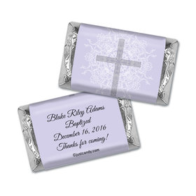 Baptism Personalized Hershey's Miniatures Wrappers Holy Cross