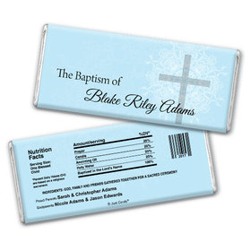 Baptism Personalized Chocolate Bar Holy Cross