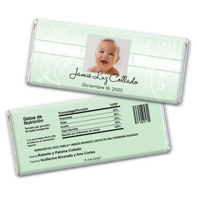 Baptism Personalized Chocolate Bar Wrappers Foto del nio de Dios