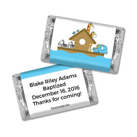 Baptism Personalized Hershey's Miniatures Wrappers Noah's Ark