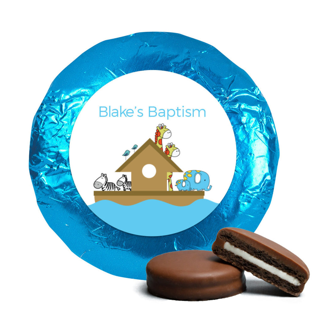 Baptism Chocolate Covered Oreos Noah's Ark (24 Pack) JCBC0016-OR