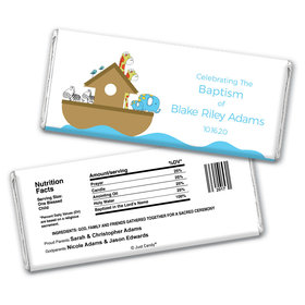 Baptism Personalized Chocolate Bar Wrappers Noah's Ark