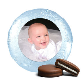 Baptism Cute Pic Milk Chocolate Covered Oreo Cookies Foil Wrapped (24 Pack)