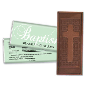 Baptism Personalized Embossed Cross Chocolate Bar First Sacrament