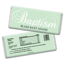Baptism Personalized Chocolate Bar First Sacrament