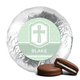Baptism Chocolate Covered Oreos Cross & Stripes (24 Pack)