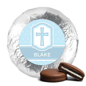 Baptism Chocolate Covered Oreos Cross & Stripes