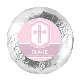"Baptism 1.25"" Sticker Cross & Stripes (48 Stickers)"