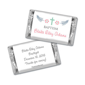 Baptism Personalized Hershey's Miniatures Wrappers Flower Blooms
