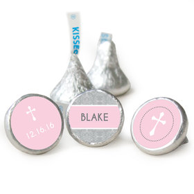 Baptism Personalized Hershey's Kisses Framed Cross Assembled Kisses (50 Pack)