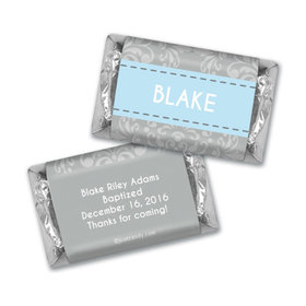 Baptism Personalized Hershey's Miniatures Wrappers Framed Cross