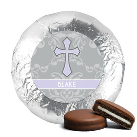 Baptism Chocolate Covered Oreos Framed Cross (24 Pack)