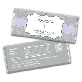 Baptism Personalized Chocolate Bar Wrappers Framed Cross