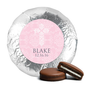 Baptism Chocolate Covered Oreos Filigree Cross (24 Pack)