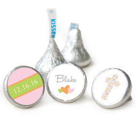 Baptism Personalized Hershey's Kisses Cross of Hearts Assembled Kisses (50 Pack)