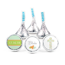 "Baptism 3/4"" Sticker Cross of Hearts (108 Stickers)"