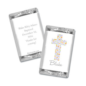 Baptism Personalized Hershey's Miniatures Wrappers Cross of Hearts