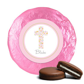 Baptism Chocolate Covered Oreos Cross of Hearts (24 Pack)