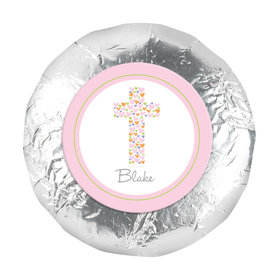 "Baptism 1.25"" Sticker Cross of Hearts (48 Stickers)"