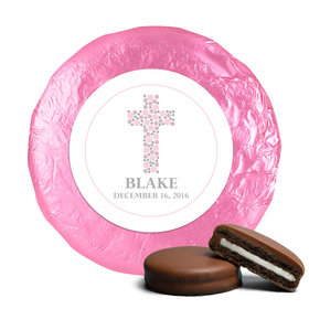 Baptism Chocolate Covered Oreos Polka Dot Cross (24 Pack)
