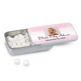 Personalized Baptism Cross and Scroll Mint Tin (12 Pack)