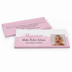 Deluxe Personalized Baptism Photo & Scroll Chocolate Bar in Gift Box