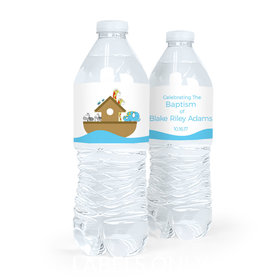 Personalized Baptism Noah's Ark Water Bottle Labels (5 Labels)