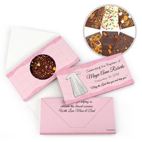 Personalized Baptism Wrapped in Faith Gourmet Infused Belgian Chocolate Bars (3.5oz)