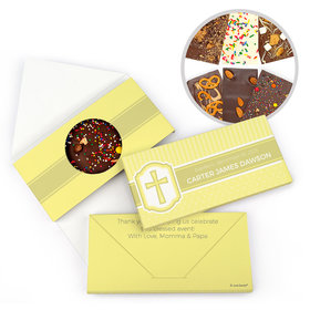 Personalized Baptism Classic Gourmet Infused Belgian Chocolate Bars (3.5oz)