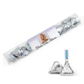 Personalized Baptism Cross and Scroll Tube with Hershey's Kisses