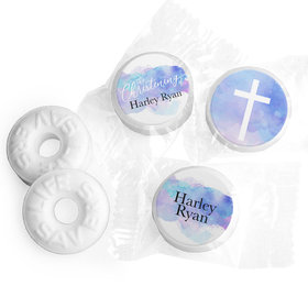 Personalized Watercolor Christening Life Savers Mints