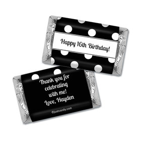 Birthday Personalized Hershey's Miniatures Wrappers Polka Dot
