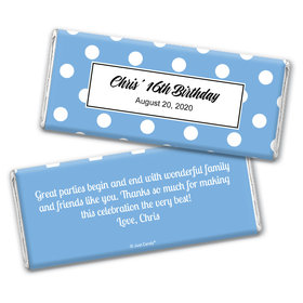 Birthday Personalized Chocolate Bar Wrappers Polka Dot