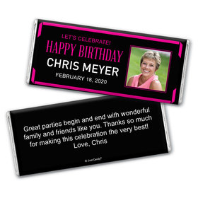 Birthday Personalized Chocolate Bar Wrappers Celebrate Photo