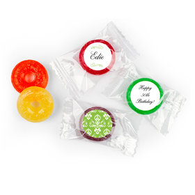 Birthday Personalized Life Savers 5 Flavor Hard Candy Baroque Pattern