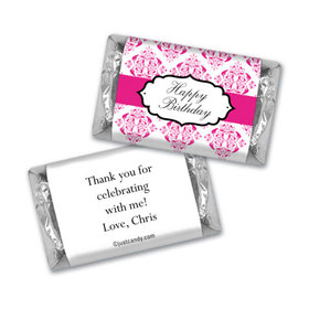 Birthday Personalized Hershey's Miniatures Wrappers Baroque Pattern