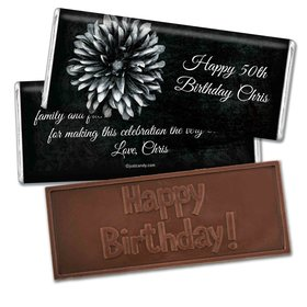 Baptism Personalized Embossed Chocolate Bar Mum and Age