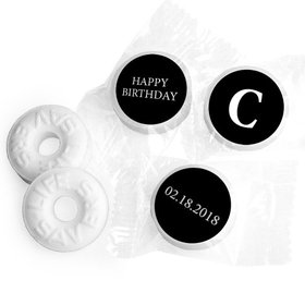 Birthday Personalized Life Savers Mints Monogram Then & Now