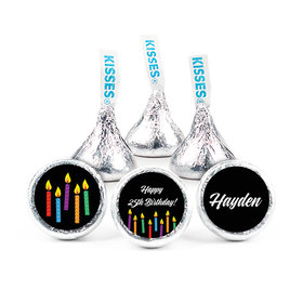 "Birthday 3/4"" Sticker Lit Candles (108 Stickers)"