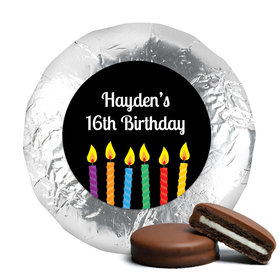Birthday Chocolate Covered Oreos Lit Candles