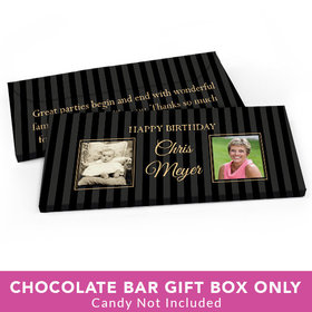 Deluxe Personalized Birthday Pinstripe Candy Bar Favor Box