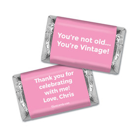 Birthday Personalized Hershey's Miniatures Wrappers You're Vintage