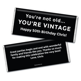Birthday Personalized Chocolate Bar You're Vintage