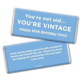 Birthday Personalized Chocolate Bar Wrappers You're Vintage