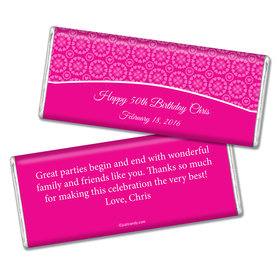 Birthday Personalized Chocolate Bar Patterned