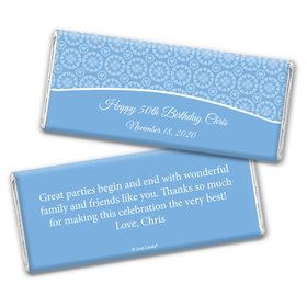 Birthday Personalized Chocolate Bar Wrappers Patterned