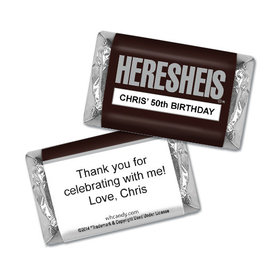 "Birthday Personalized Hershey's Miniatures HERESHEIS ""Here She Is"""